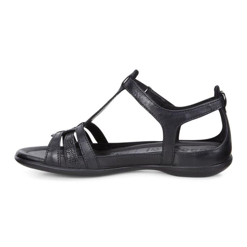Black ecco sandals -  Ecco Flash T Strap Sandalecco Flash T Strap Sandal In Black Black