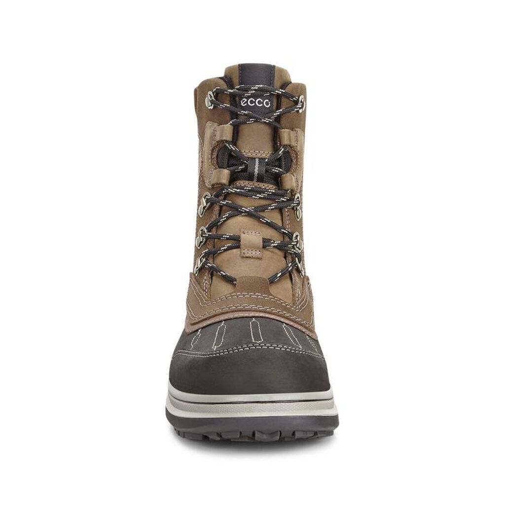 roxton men Ecco's roxton gtx boots offer great durability and flexibility, as well as improved slip resistance and extra wearing comfort features: - direct-injected, two-component pu/rubber outsole .