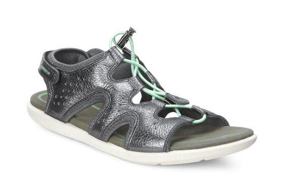 16fbbcb4ac19 ECCO Bluma Toggle Sandal (DARK SHADOW METALLIC)