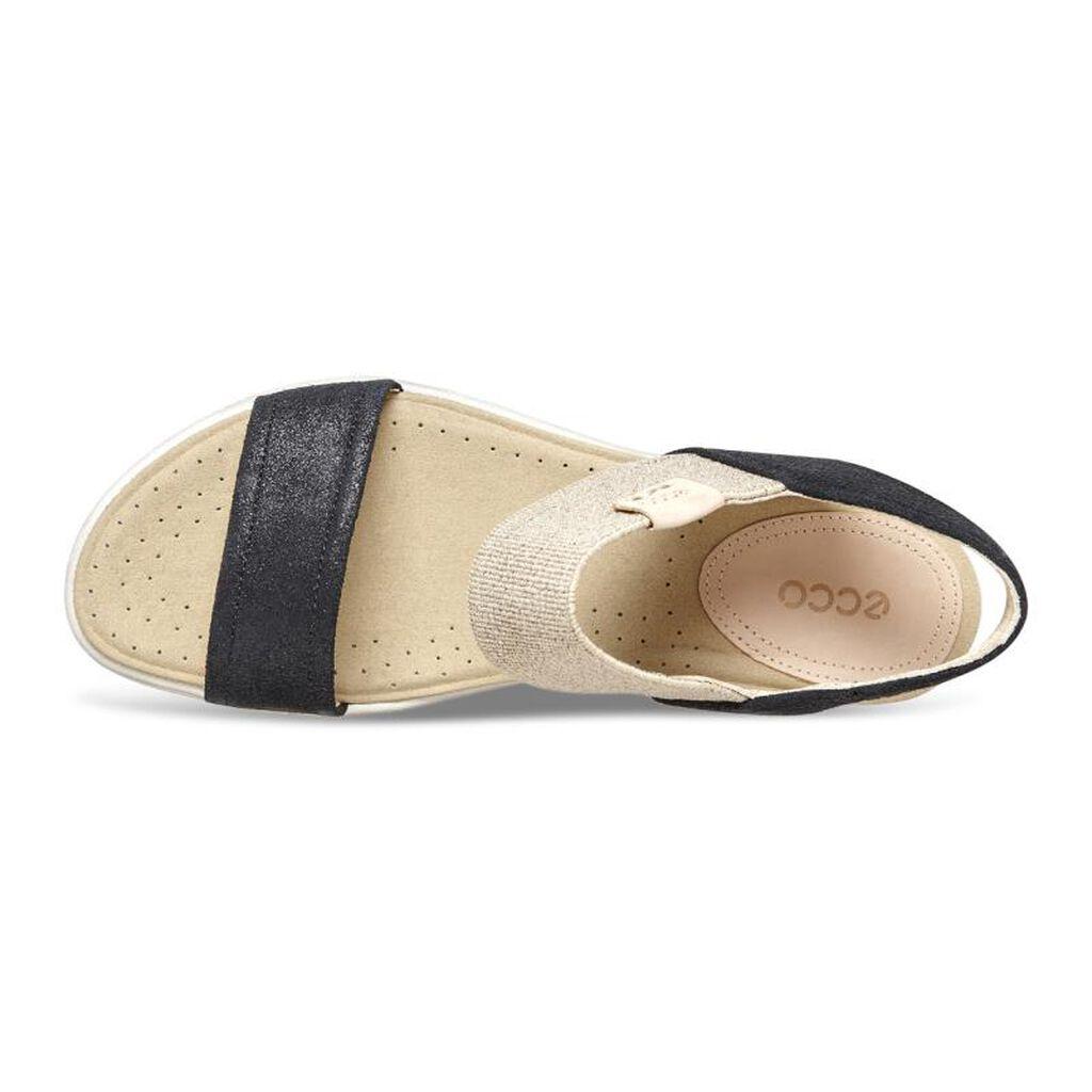 Black ecco sandals -  Ecco Damara Ankle Sandalecco Damara Ankle Sandal In Black 05001