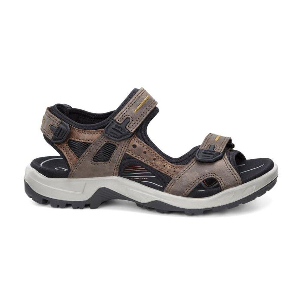 Black ecco sandals -  Ecco Mens Yucatan Sandalecco Mens Yucatan Sandal In Espresso Cocoa Brown Black 56401