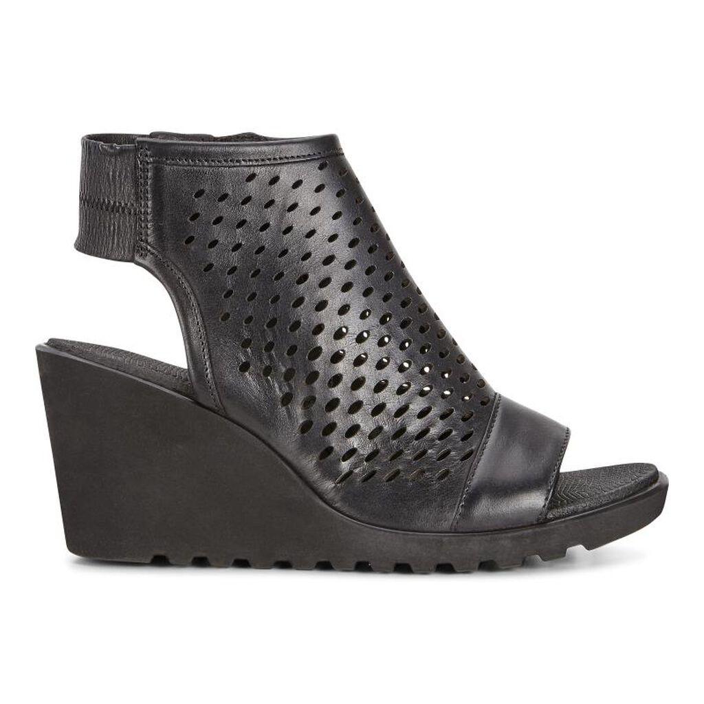 Black ecco sandals -  Ecco Freja Wedge Hooded Sandalecco Freja Wedge Hooded Sandal In Black 02001