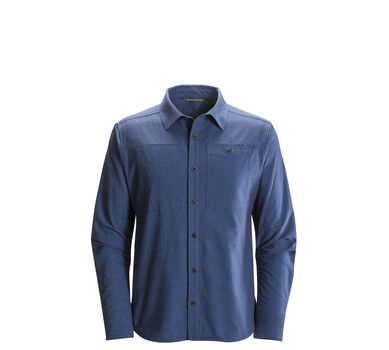 Long-Sleeve Chambray Modernist Shirt