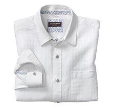 Tonal Square Washed Linen Shirt